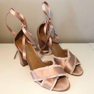 Ballerina Pink Lace Up Heels